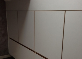 Detail aansluiting tgen Velux dakvenster